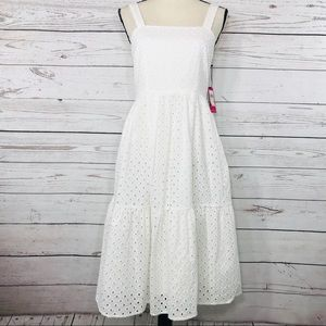 Vince Camuto Dress Sleeveless Fit 'n Flare Eyelet